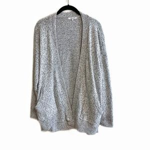 Madewell cotton marled knit relaxed open cardigan